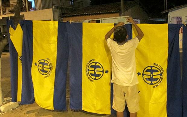 Bandeira Horizonte x Palmeiras (Foto: Daniel Romeu / Globoesporte.com)