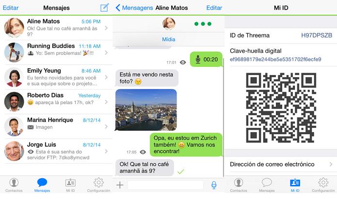 Comunique-se de forma segura com o Threema (Foto: Divulgação/AppStore)