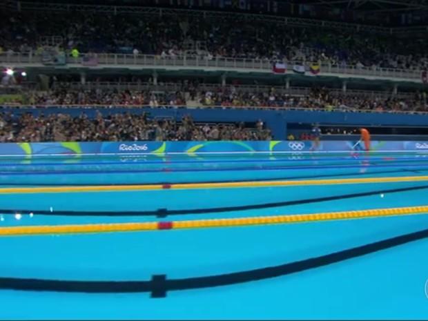 Uma das piscinas olímpicas será doada para outra cidade do país (Foto: Reprodução/ TV Globo)