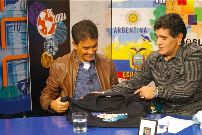 Maradona e Bebeto Programa De Zurda (Foto: Reprodução / Twitter)