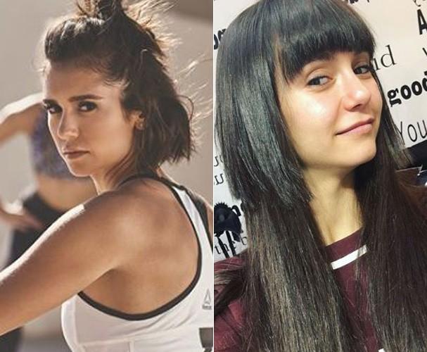 Antes e depois de Nina Dobrev (Foto: Reprodução/Instagram)