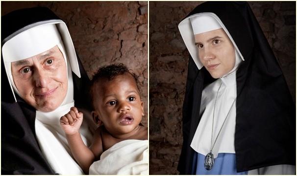 Regina Braga e Bianca Comparato retratam as duas diferentes fases da Irmã Dulce (Foto: Produção Se Liga VM)
