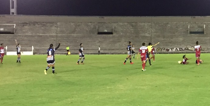 Botafogo-PB, São Francisco-BA, Copa do Brasil feminina (Foto: Lucas Barros / GloboEsporte.com)