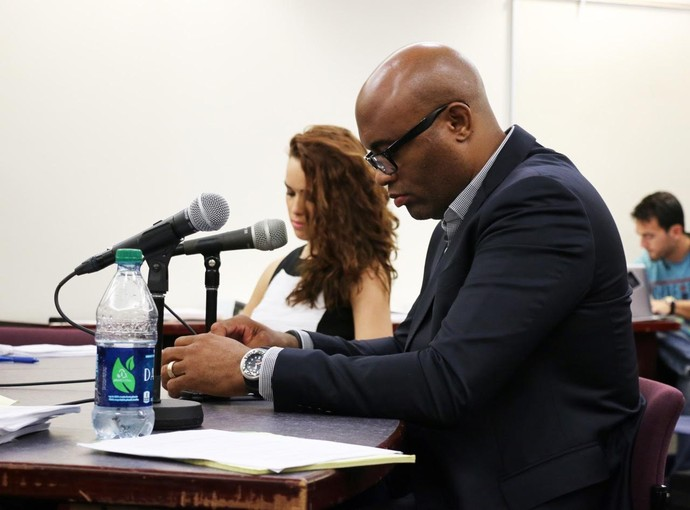 Anderson Silva Audiência Doping (Foto: Evelyn Rodrigues)