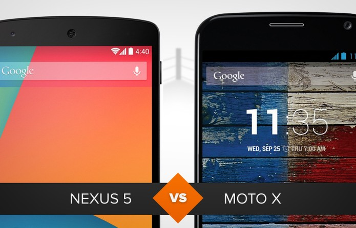 Comparativo Nexus 5 X Moto X (Foto: Arte/TechTudo)