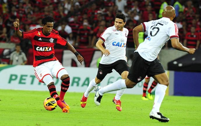 Luiz Antônio Flamengo x Atlético-PR (Foto: Alexandre Vidal / Flaimagem)