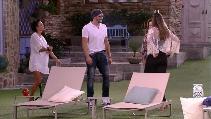 Família de Daniel comentou as amizades do brother no jogo (Foto: TV Globo)