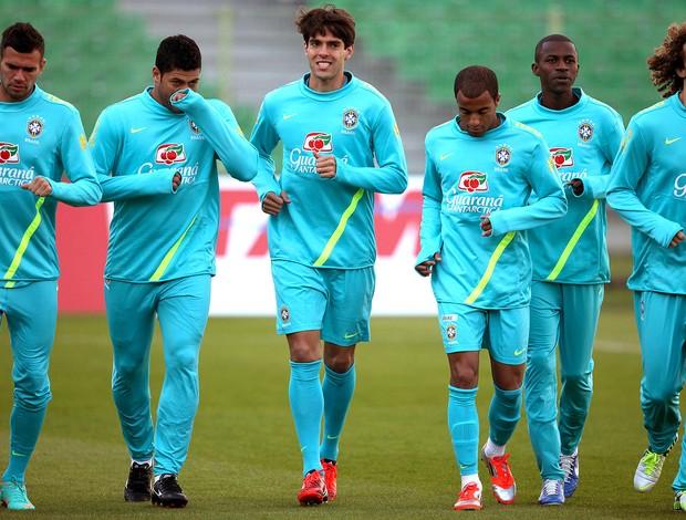 Kaká no treino da seleção brasileira (Foto: Mowa Press)