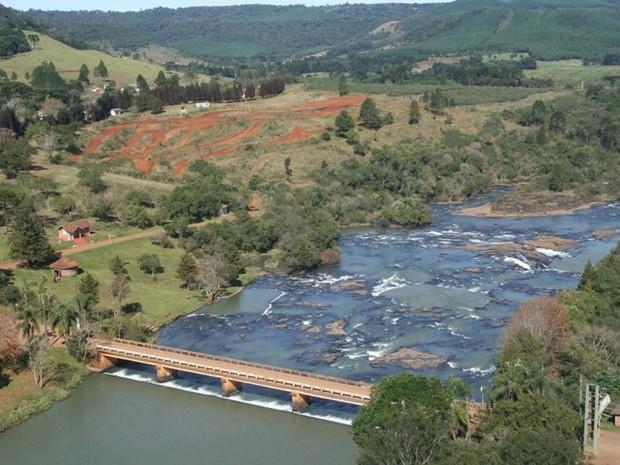Parque do Rio Jordão fica a 6 quilômetros do centro de Guarapuava (Foto: Divulgação/Prefeitura de Guarapuava)