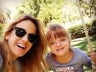 Ticiane Pinheiro aproveita dia de sol com Rafinha: 'maior amor do mundo'