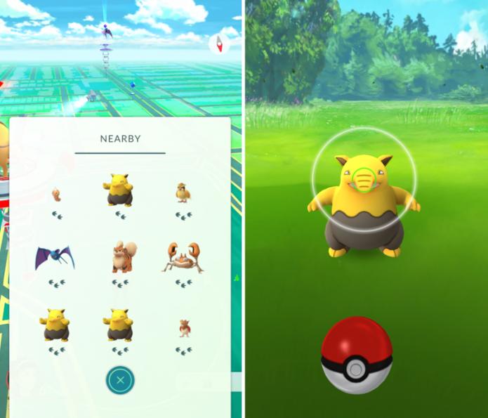 Pokémon Go: a cor do anel de precisão informa o grau de dificuldade em capturar o Pokémon (Foto: Reprodução/Stuff)
