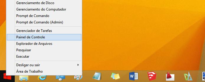 Acessando o Painel de Controle do Windows (Foto: Reprodução/Helito Bijora)