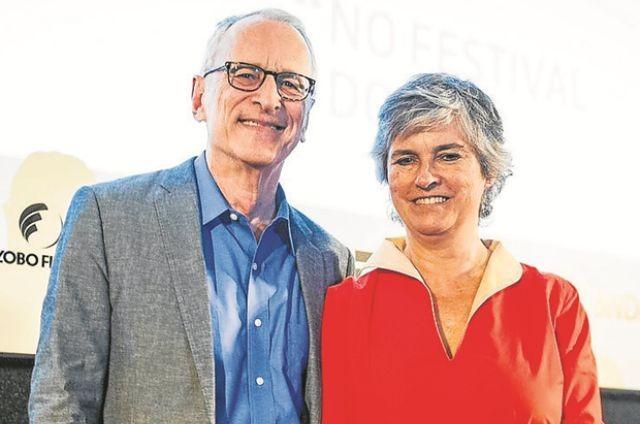Jorge Pontual e Renée Castelo Branco (Foto: João Miguel Júnior/ TV Globo)
