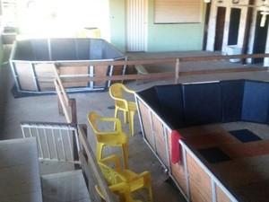 Locais onde os animais participavam das brigas (Foto: Polícia Militar/Divulgação)