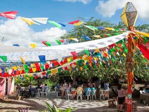A Divina Vila é a vila cenográfica onde acontece o Arraiá do Cumpade (Foto: Marcelo Lopes/Divulgação)