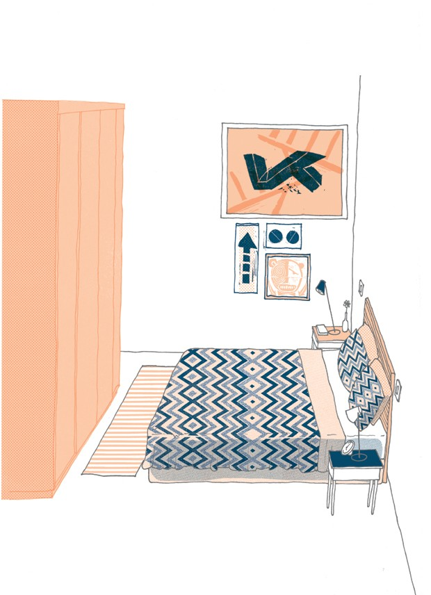 medidas quarto decoração (Foto: Ilustração Daniel Almeida)