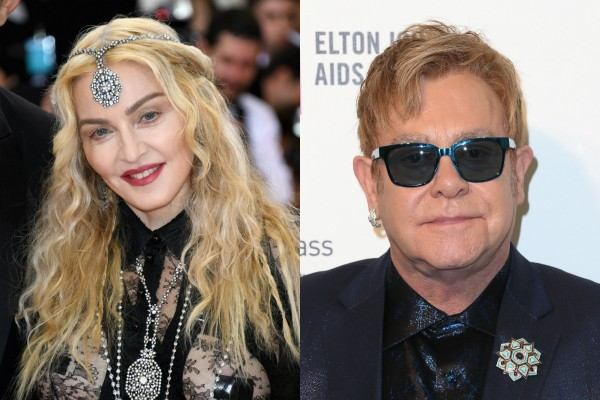 Madonna x Elton John (Foto: Getty Images)