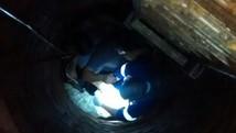 Avó cai em poço de sítio com a neta de um ano (Polícia Militar)