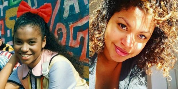 Cinthya Rachel em Castelo Rá-tim-bum e hoje (Foto: Reprodução/Instagram)