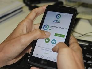 Aplicativo Piauí Loterias já está disponível na loja para aparelhos com Android (Foto: Fernando Brito/G1)