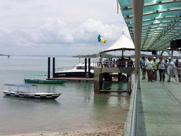 Viagem inaugural aconteceu na manhã desta quinta-feira (5) (Foto: Jéssica Smetak / TV Bahia)