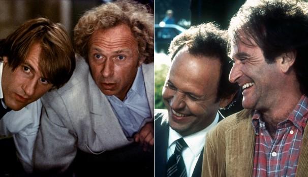 O elenco de 'Les compères' (1983) contava com Gérard Depardieu e Pierre Richard nos papéis que ficaram com Robin Williams e Billy Crystal na nova versão (Foto: Divulgação/Reprodução)