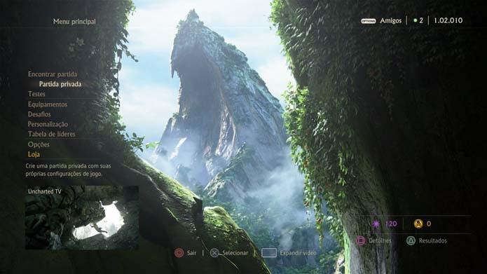 Aprenda a criar partidas personalizadas no multiplayer de Uncharted 4 (Foto: Reprodução/Murilo Molina)