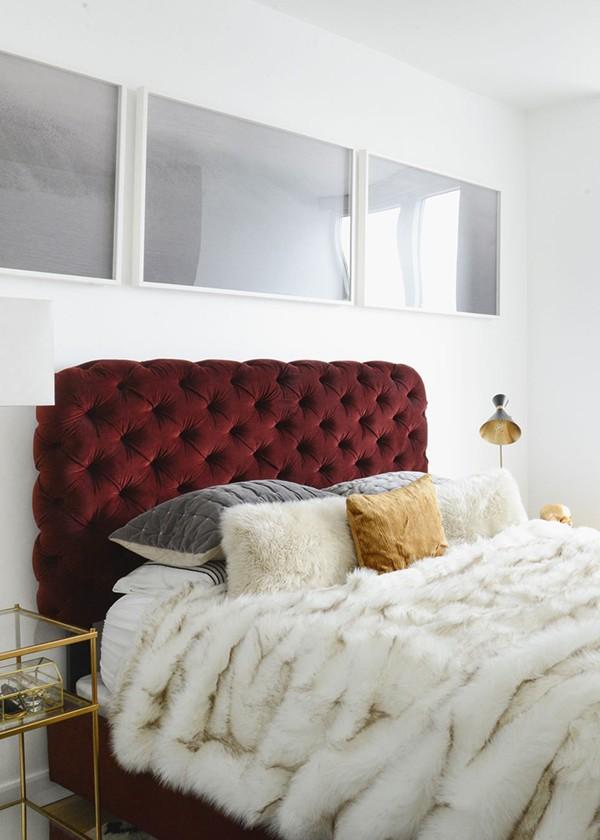 Cabeceira vermelha (Foto: Reprodução/Pinterest)