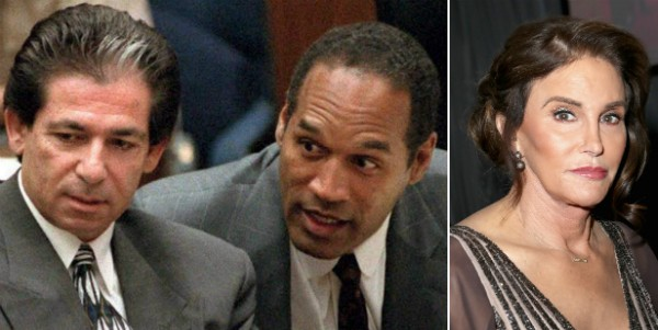 Robert Kardashian, O.J. Simpson e a celebridade Caitlyn Jenner (Foto: Getty Images)