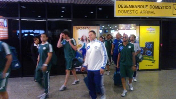 Chegada Palmeiras a Fortaleza (Foto: Juscelino Filho)
