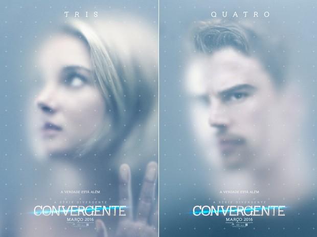 Cartazes de 'Convergente' da série 'Divergente' (Foto: Divulgação/Paris Filmes)