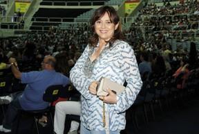 Miryan Rios em show de Roberto Carlos no Rio (Foto: Roberto Filho/ Ag. News)