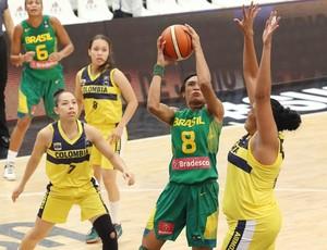 Brasil x Colômbia, Sul-Americano, Iziane (Foto: Fiba Americas/Divulgação)