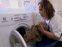Empresário investe R$ 35 mil e monta rede de lavanderias (Reprodução/TV Globo)