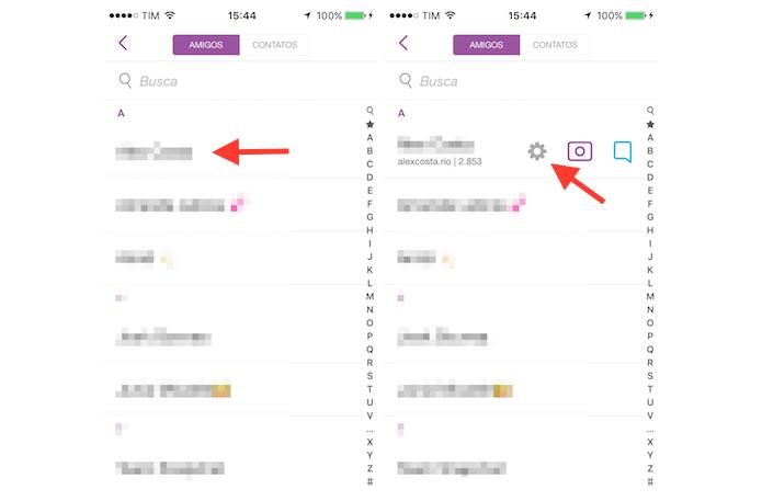 Acessando as opções para um contato no Snapchat (Foto: Reprodução/Marvin Costa)