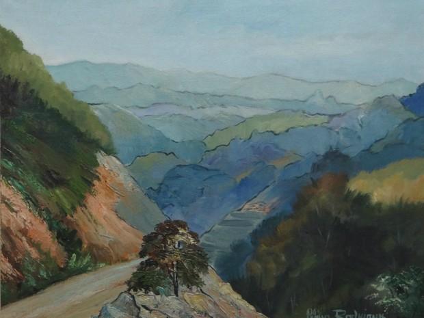 Celina Rodrigues retrata paisagem montanhosa (Foto: Divulgação)