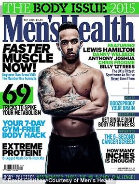 Lewis Hamilton na Men´s Health (Foto: Instagram / Reprodução)