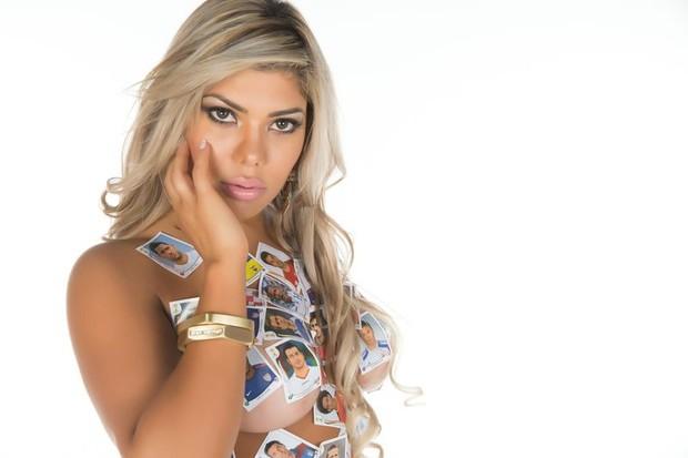 Lizy Sampaio, uma das 11 concorrentes ao título de musa da copa  (Foto: Studio Woody)
