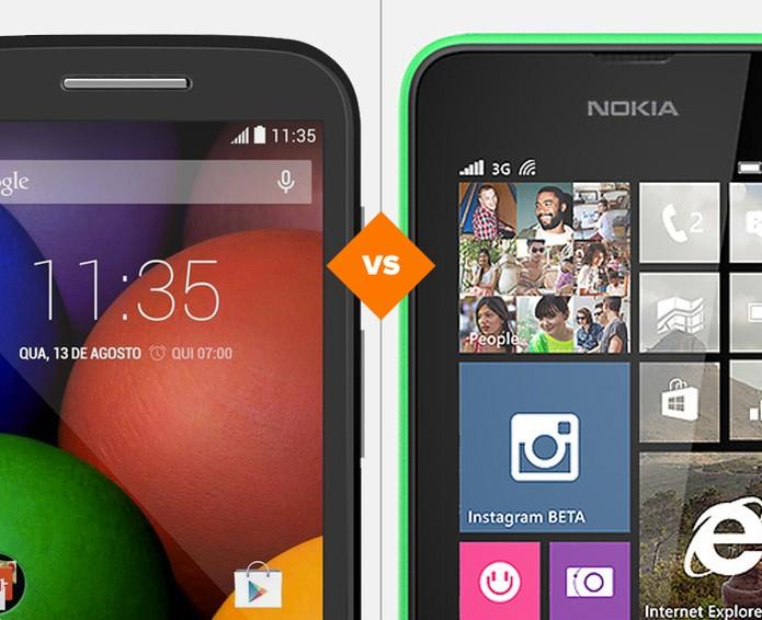 Comparativo entre Moto E e Lumia 530 (Foto: Arte/TechTudo)