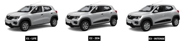 Versões do Renault Kwid (Foto: Reprodução)