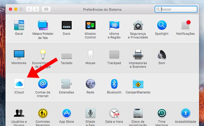 Acesse as opções do iCloud (Foto: Reprodução/Paulo Alves)