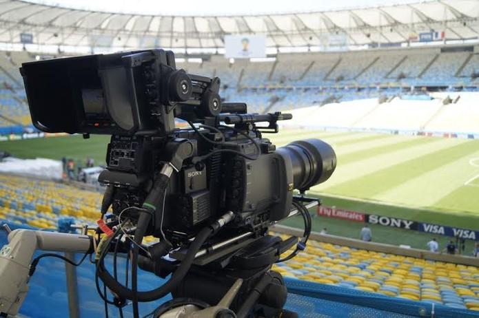Uma das 12 câmeras 4K da Sony instaladas no Maracanã (Foto: Divulgação/ Sony)