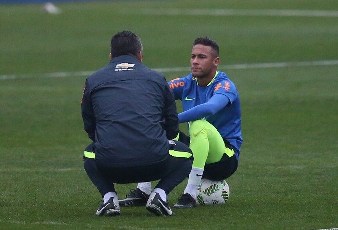Neymar Rogério Micale Brasil seleção olímpica (Foto: Lucas Figueiredo / MoWa Press)