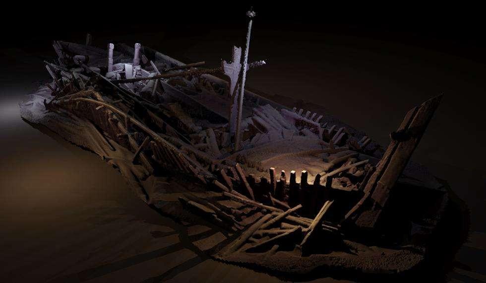 Modelo fotogramétrico de barco do Império Otomano (Foto: Rodrigo Pacheco-Ruiz)