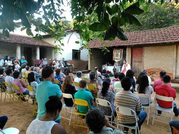 Peregrinação imagem São Pedro Pequeri (Foto: Kátia Braga/ Arquivo Pessoal)