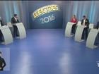 Candidatos a prefeito de Santos, SP, participam de debate na TV Tribuna