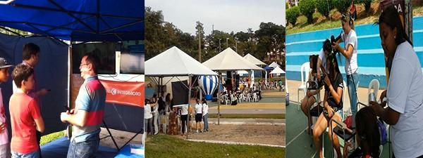 Várias pessoas passaram a manhã no Parque Bariri, em Pará de Minas (Foto: Divulgação TV Integração)