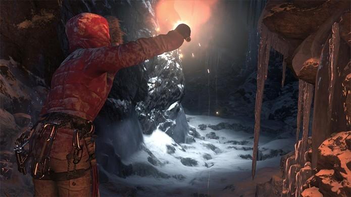 Em Rise of the Tomb Raider, os desafios de Lara serão mais tumbas e cavernas congeladas (Foto: Divulgação/Square Enix)