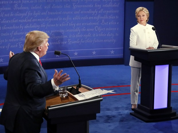 Hillary Clinton, Donald Trump, debate (Foto: Mark Ralston/Pool/AP)
