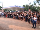 Manifestação marca enterro de estudante morta por policiais no MA